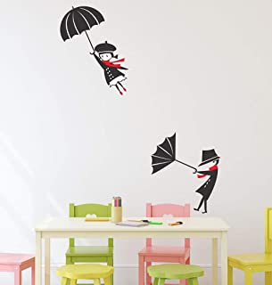 Amazon Brand - Solimo Wall Sticker for Living Room (Rain Rain Go Away, Ideal Size on Wall - 65 cm x 84 cm)