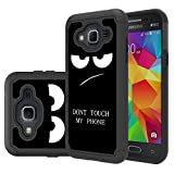 SKMY Galaxy J3V Case, J3 Case, J36V Case, Shockproof Impact Hybrid Dual Layer Defender Protective Cover Rugged Armor Case for Samsung Galaxy Sol/Sky, Amp Prime, Express Prime (My Phone)