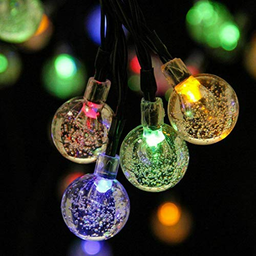 Solar String Lights Outdoor, 30LED/50LED /60LED Solar Powered Fairy Lights Waterproof Indoor/Outdoor Lights Decoration for Garden, Patio, Yard, Party and Wedding (White, Warm White, Multi Coloured)