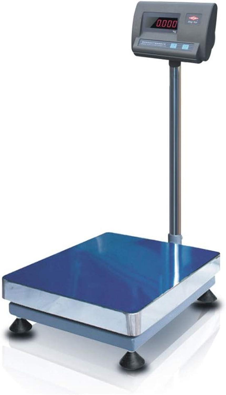 Digital Plataforma Escamas 40x50cm Grande Plataforma Industrial Escamas 110kg 242.5lb Escamas Inoxidable Acero Carbón Acero Material Paquete Escamas (Color   azul, Talla   400  500 MM)