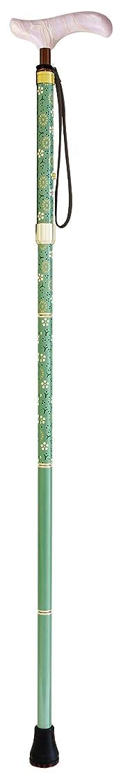 読書衝動知っているに立ち寄るシナノ 折畳み杖  カイノス T-1 花 KOMON グリーン