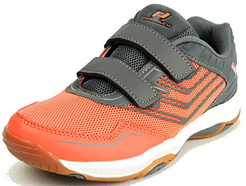 Pro Touch Rebel 3 VLC Volleyball-Schuh, Grey/Red Light, 35 EU