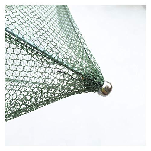 Myouzhen-Faltbare Fischernetze 60x60cm 80x80cm 100x100cm Square Angelplatznetz, Trap-Netzwerk zum Fangen von Garnelenkrabben Kleine Fische Angelwerkzeug, Hochwertig und langlebig ( Color : 60x60cm )