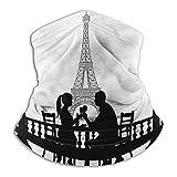 Calentador de Cuello Romántico Personalidad Creativa Personalizada Bufanda Pareja en Cena París