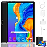 Tablet 10 Inch, Dual 4G LTE, 5G WIFI, Quad-Core, Android 9.0 Tablet PC, 3GB RAM 32GB ROM/128GB Computer Tablets, 8500mAh Battery, Dual 8MP Camera, Bluetooth/GPS/OTG Unlocked Tablet (Black)