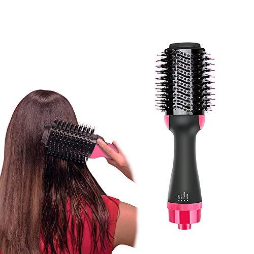 Hot Hair Dryer BrushYOKEYS Upgrade 4 in 1 Hot Air Brush One Step Hair Dryer Salon Negative lon One Styling Step Hair Dryer Brushes Curler Straightener for Girls Women Mum Girlfriend