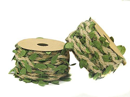 2 rollos 4ply Creative hojas de arpillera cinta resistente c