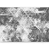 murando - XXL Fototapete Ornament grau 500x280 cm - Größe Format - Vlies Tapete - Moderne Wanddeko - Design Tapete - Wandtapete - Wand Dekoration - Blätter f-A-0465-a-d