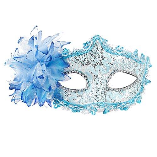 Belle vénitienne Jolie Masquerade Masque des yeux Fancy Dress Accessoire Bleu