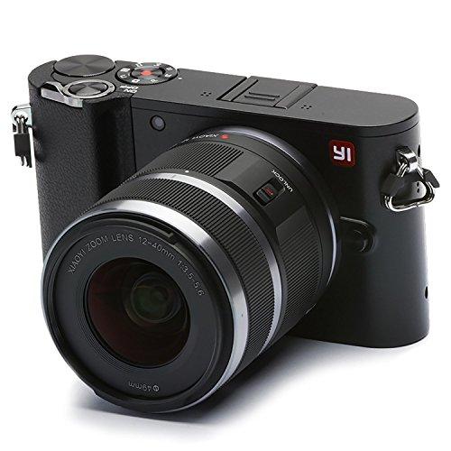 YI M1 4K cámara Digital sin Espejo con Lentes Intercambiables 12-40mm F3.5-5.6 20 Megapixel Negro tormenta (One Lens)