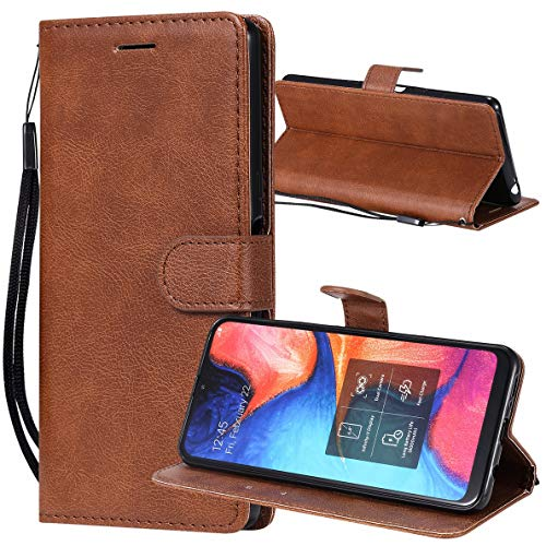 Yiizy Handyhüllen für Huawei Y5 (2019) AMN-LX9 Ledertasche, Fashion Stil Lederhülle Brieftasche Schutzhülle für Huawei Y5 (2019) hülle Silikon Cover mit Magnetverschluss Kartenfächer (Braun)