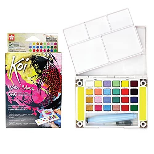 Sakura Pocket Set Koi Watercolor Kit, 24 Colors Count