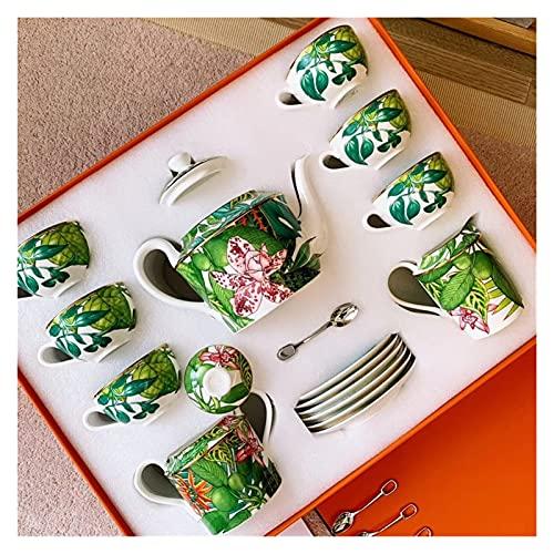YSJJPQC Plato de Cena Conjunto de vajillas Jingdezhen de Alta Gama China Cuenco de hogar y Plato de Lujo Phnom Penh Regalo de Porcelana Hylaea Placas (Color : Tea Set)