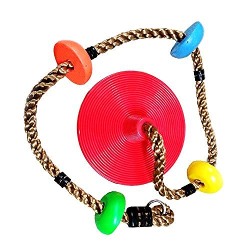 Kletterschaukel, Kletterseilschaukel aus Kunststoff Baumklettern Schaukel für Kinder, Outdoor, Baum, Hinterhof, Spielplatzschaukel