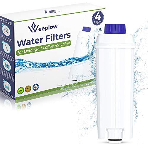 Weeplow - 4 Wasserfilter DLSC002 für Delonghi-Kaffeemaschine, kompatibel mit Delonghi Magnifica, Dinamica, Autentica, PrimaDonna, alle ECAM ESAM ETAM BCO EC-Serie (4)