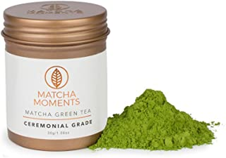 Matcha Green Tea Powder - Organic Japanese Teas For Detox & Boosting Energy - Fair & Sustainable, Single Source Harvest, Farm To Cup Superfood From Japan - Ceremonial Grade 30g / 1oz - Makes 30 cups