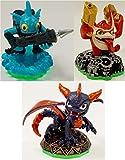 Skylanders Spyro's Adventure Triple Character Pack (Spyro, Trigger Happy, Gill Grunt) - New In Bulk Packaging