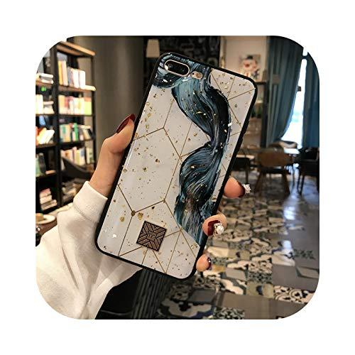 Carcasa de silicona para iPhone 11 Pro Xs Max SE, diseño de flores, color dorado