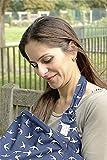 Couverture d'allaitement, tablier d'allaitement Écharpe Cape- Tissu en coton britannique- Fait en Europe- Une courroie ajustable pour le cou et une baleine rigide- Nursing Cover Scarf- MY LITTLE KOALA