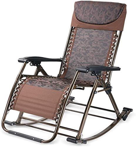 YAOHONG Colchonetas, sillas portátiles, Cojines, Patio Interior y Exterior terraza en el jardín, sillas Plegables de Cubierta Cómodo sillón reclinable (Color : B)