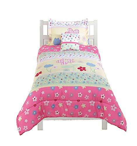 Beco Home Bettwäsche-Kollektion: 2-teiliges Set (1 Bettdecke und 1 Kissenbezug), Gartenblumen, voll