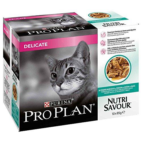 Purina Pro Plan Cat NutriSavour - Delicate - Sachets - 10 x 85 g