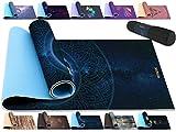 RDX Esterilla Yoga Antideslizante Colchoneta Alfombrilla No Tóxico para Fitness Pilates, Aeróbicos, Entrenamiento, Ejercicio Estiramiento, Deporte Físico con Correa de Hombro 183cm x 61cm