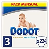 Dodot Sensitive - Pañales,  Talla 3 ( 6-10 kg),...