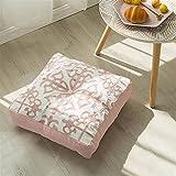 QWEQWE Cojines de algodón Decorativos para sofá Lienzo Kit de Cojines futones al Aire Libre jardín Cadera Espuma Impermeable Espuma palets Cama (Color : A, Specification : 40x40cm)