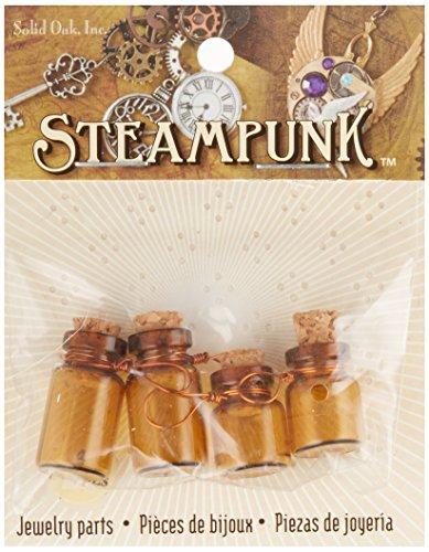 Solid Oak Botellitas de Cristal Steampunk, 3Piezas
