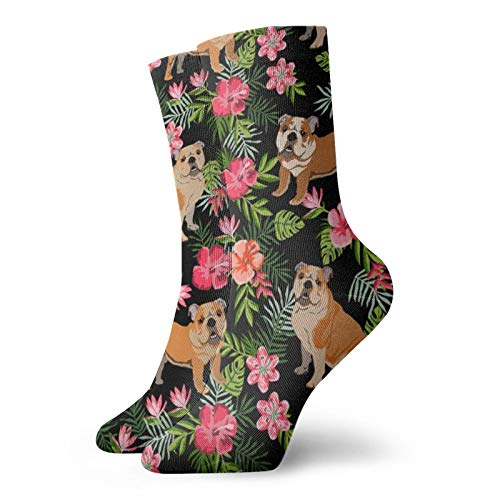 Nglish - Calcetines deportivos para perro, color negro, 30 cm, calcetines de tobillo