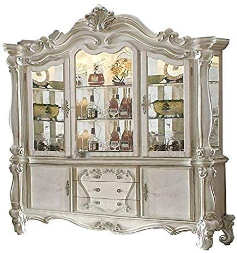 ACME Versailles Hutch & Buffet - - Bone White