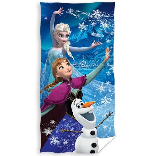Toalla de playa Frozen 2 toallas de baño Frozen II para niño, 70 x 140 cm, algodón Anna Elsa