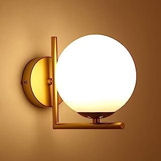Bola Luz de pared, Moderno Apliques de pared Cortina de cristal del globo de blanco