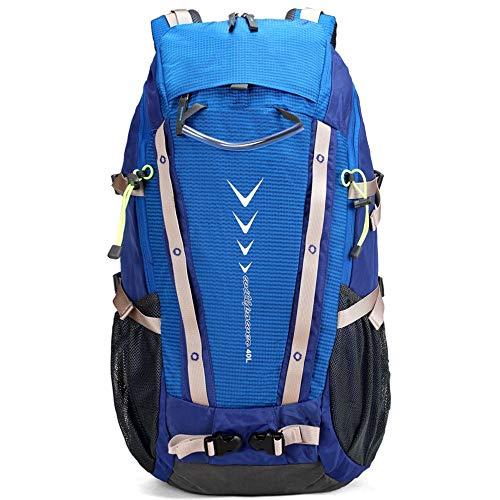 Zaino da Trekking Alpinismo Zaino Trekking Zaino Impermeabile di Campeggio Zaino da Viaggio Trekking Zaino Adatto per Il Campeggio E L'escursionismo (Colore : Blu, Size : 40L)
