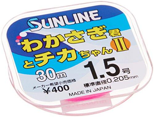 サンライン(SUNLINE) ナイロンライン わかさぎ君とチカちゃんII 30m 1.5号 ピンク