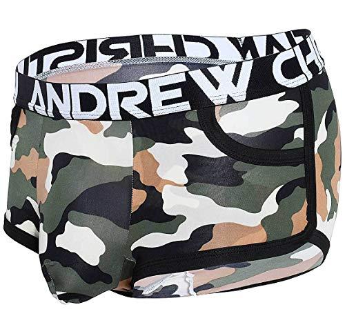 Andrew Christian Herren Boxershorts Camouflage Pocket Boxer 91455, grün XL