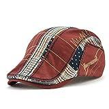 Impression 1 PCS Boinas Ocio Retro Hat Gorra de Golf Sombrero de Sol Deporte al Aire Libre Primavera Verano para Unisex Hombre Mujer (E)