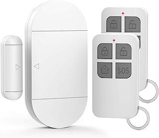 GuDoQi Alarma para Puertas y Ventanas, Sirena de 130 dB, 2 Controles Remotos, Sensor Puerta Garaje, Alarma Casa, Seguridad Ventanas Correderas para Niños, Hogar, Tienda