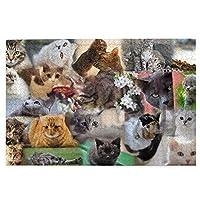 パズルcat collage 1000ピース 木製パズルミニ 大人の減圧 絶妙な誕生日プレゼント