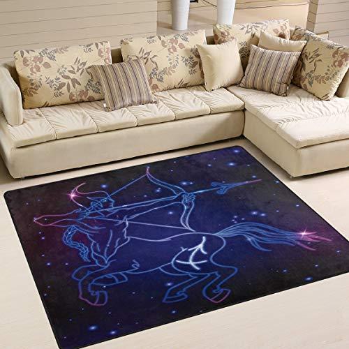 Area Rug 63 x 48 inch bescherming sterrenbeeld constelling voor woonkamer slaapkamer 63x48 inch Image 1302