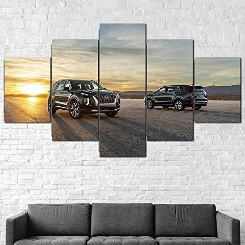 Quadro Moderno Auto Hyundai Palisade SUV Stampa su Tela - Quadro x poltrone Salotto Cucina mobili Ufficio casa - Fotografica Formato XXL