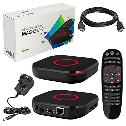 MAG 324 Original Infomir & HB-DIGITAL IPTV SET TOP BOX Multimedia Player Internet TV IP Receiver...