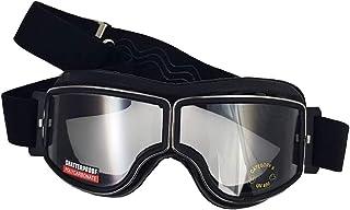 Retro Motorradbrille Piwear Boston Black Gun Metal klares Glas