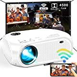 Best Iphone Projectors - WiFi Projector, DIWUER Newest 4500 Lux Mini Portable Review