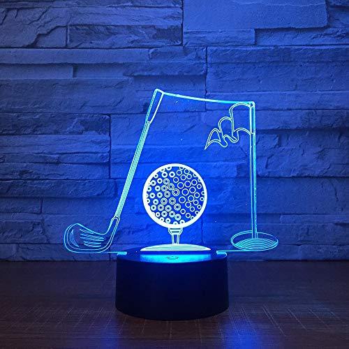 Golf Sport USB Dad 3D LED Nachtlicht Tischlampe Nachttisch Dekoration Kinder Geschenk