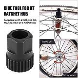 Explopur Tuerca de Cubo de Bicicleta - Herramienta de extracción de instalación de Cubo de trinquete DT con Anillo de Bloqueo de Cubo de Bicicleta