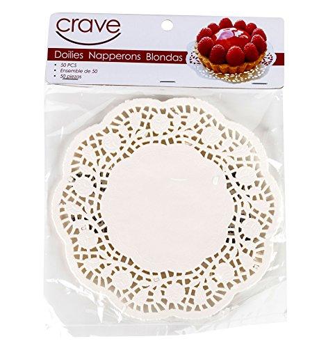 Crave White Decorative Doilies, Set of 50