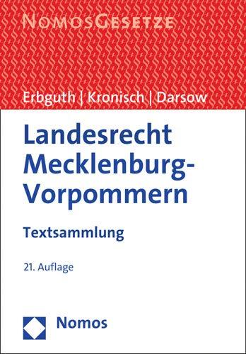 Landesrecht Mecklenburg-Vorpommern: Textsammlung - Rechtsstand: 15. August 2019