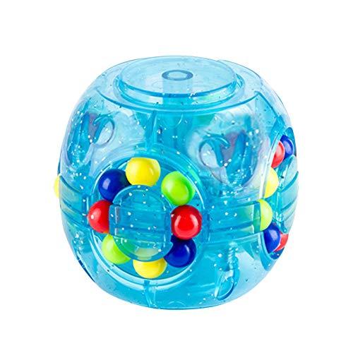 Fidget Cubes, Cubo mágico creativo luminoso Cubo de velocidad Rubik's Little Magic Beans Gyroscope Puzzle Cube Fingertip Gyroscope Toy Juego intelectual para niños y adultos Alivia la ansiedad